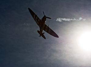 The Big Picture: A Spitfire returns from the day's flight by David Mason