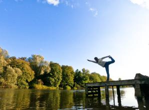 The Big Picture: Yoga by the riverside by Dejana Galetin