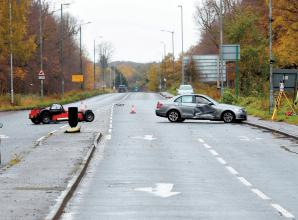 Police are appealing for witnesses after a driver was airlifted to hospital following a crash in Bath Road