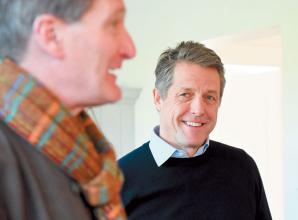 Actor Hugh Grant visits Marlow coffee morning