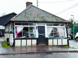 Man arrested after damage to Bourne End railway cafe