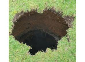 Forty foot sinkhole appears in Wooburn playing field