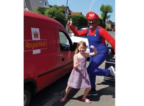 Burnham postman dresses up for deliveries to raise money for Britwell Youth Centre
