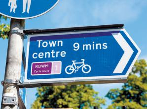 New cycle route opens connecting West Windsor to town centre