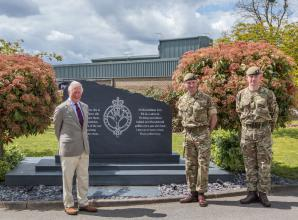 Prince Charles visits Windsor's Combermere Barracks