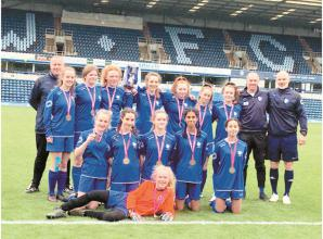Marlow FC Girls u14 hold their nerve to claim the Berks and Bucks County Cup
