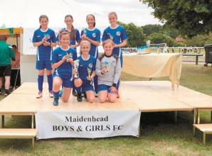 Maidenhead u12 and u13 girls crowned champions in home tournament