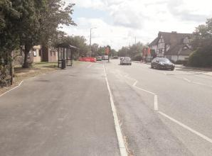 Work on Bath Road footway and cycleway reaches halfway point