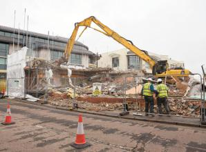 Demolition progressing on The Landing site