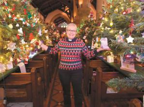 More than £2,100 collected at St Luke's Church's ninth Christmas Tree Festival