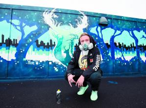 'Maidenhead's own Banksy' paints town centre street art