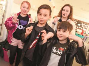Dorney School pupils and staff dress up as rockstars to mark game launch