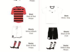 Maidenhead United fans select heritage kits for 150th anniversary season