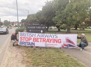 Maidenhead residents protest British Airways