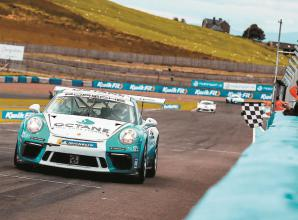 King gets back on track after mechanical to claim sixth race win of season in Porsche Carrera Cup