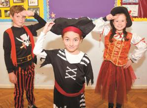 Pupils pirates for a day at Holyport CofE Primary School
