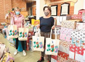 Hurst children's charity support more than 1,000 children with Christmas stockings