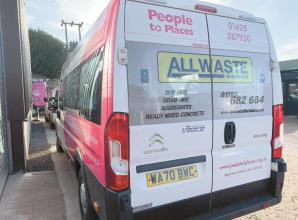 Minibus sponsorship supports accessibility charity People to Places