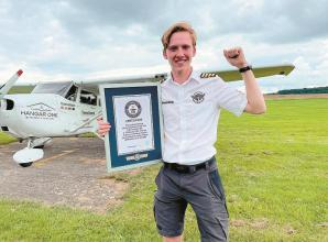 Marlow student becomes youngest person to fly around the world solo
