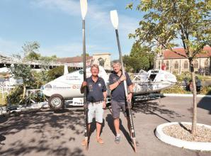 Marlow men set out to be the oldest pair to row across Atlantic